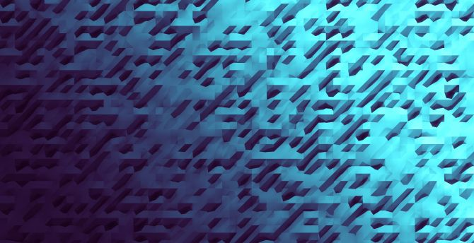 Aquamarine abstract pattern 4k