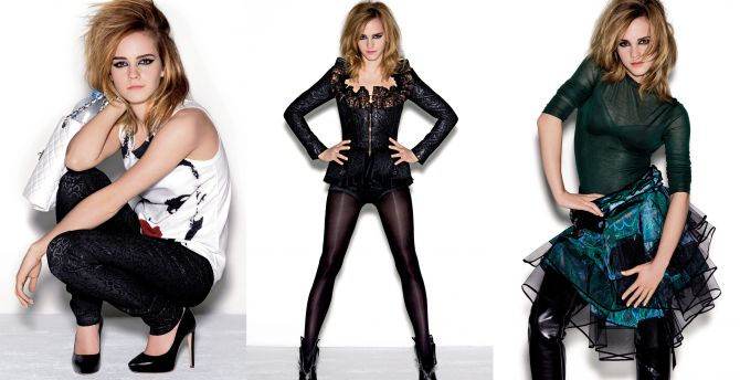 Collage, British celebrity, Emma Watson wallpaper