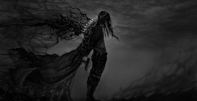 Desktop Wallpaper Dark Fantasy Hatred Warrior Video Game Art