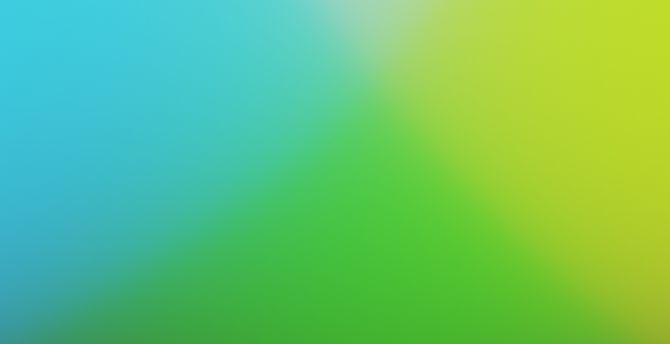 Desktop Wallpaper Blue Green Gradient Abstract Blur Hd