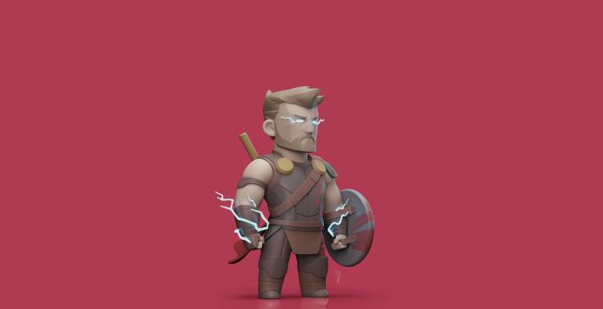 Desktop Wallpaper Thor Ragnarok God Of Thunder 3d Art Hd Image