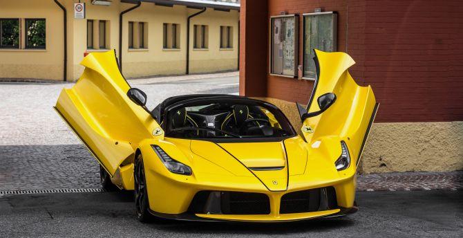 View 4K Ferrari Laferrari Wallpaper  PNG