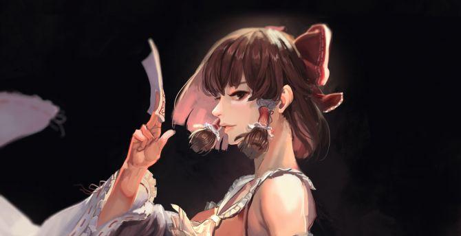 Beautiful, Reimu Hakurei, anime girl wallpaper