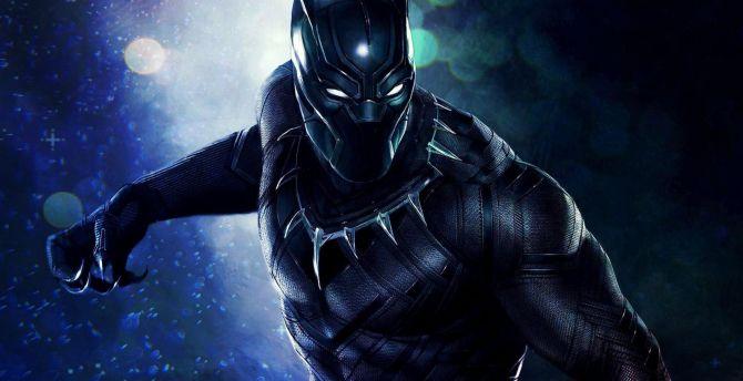 Black panther superhero artwork