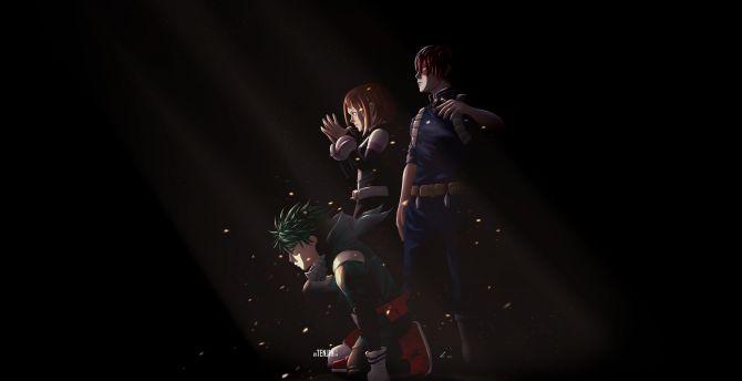 Desktop Wallpaper Boku No Hero Academia Dark Artwork Hd