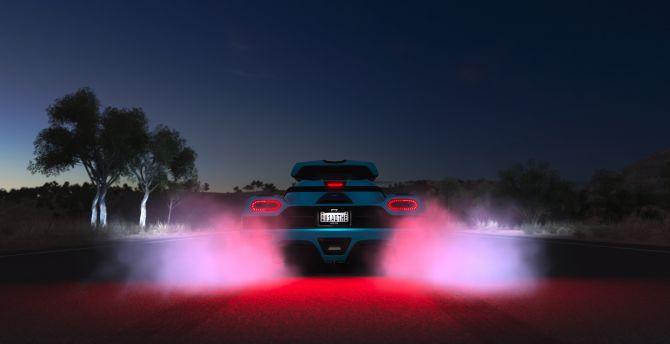 Rear Tail Light Race Car Forza Horizon 3 Wallpaper