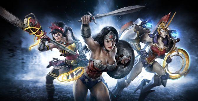 Wonder woman, Infinite Crisis, video game, superhero wallpaper