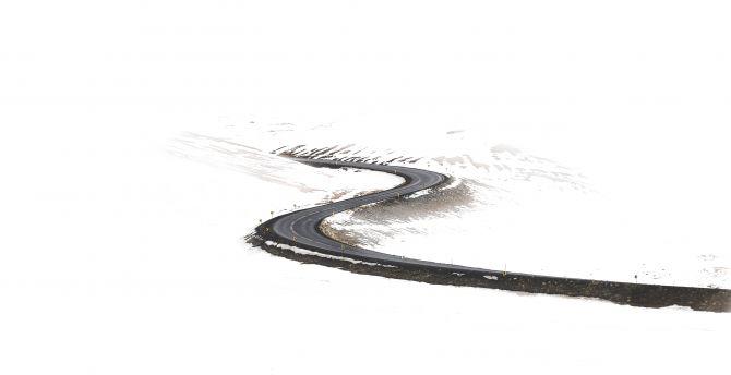 Road, highway, minimalism, art wallpaper