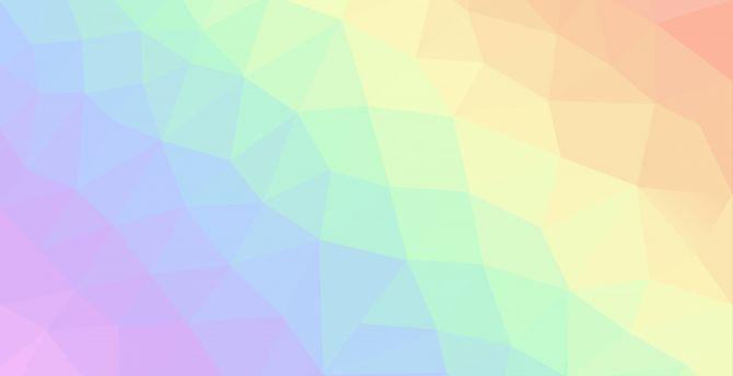 Desktop Wallpaper Light Colors Geometric Pattern Abstract