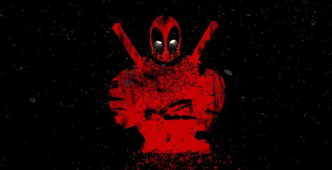 Deadpool shatter abstract 4k