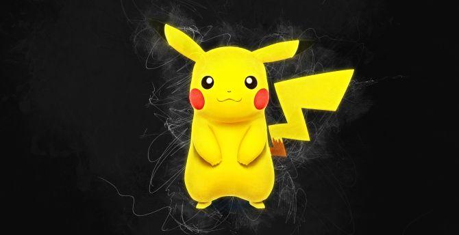 Pikachu, Pokémon, artwork, anime wallpaper