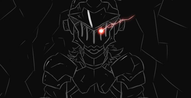 Desktop Wallpaper Dark Minimal Goblin Slayer Art Hd