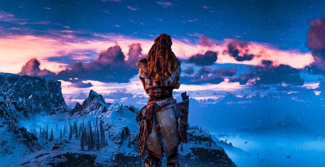 Desktop wallpaper outdoor, landscape, horizon zero dawn ...