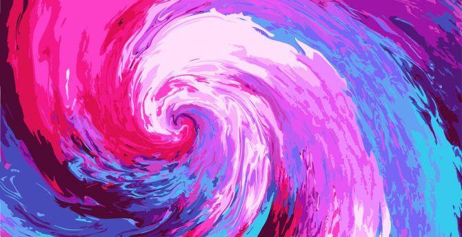 Desktop Wallpaper Swirl Abstract Glitch Art Hd Image