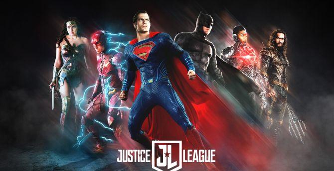 Justice league fan art poster 4k 8k