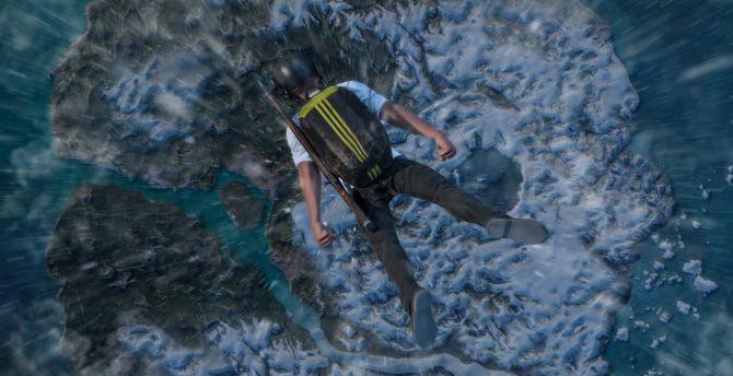 Dive, man, PUBG, 2018, video game wallpaper