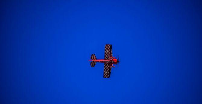 Minimal, airshow, aircraft, blue sky wallpaper