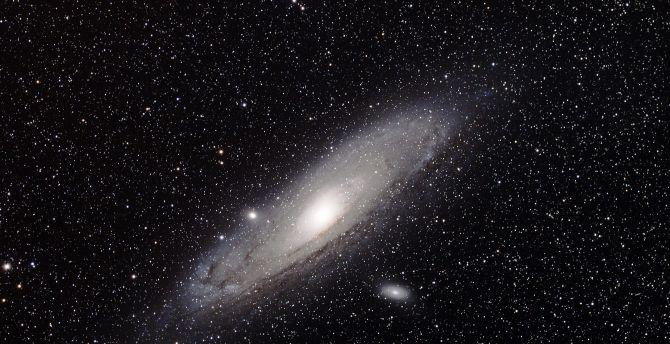 Spiral Galaxy Art 4k Wallpapers: Desktop Wallpaper Stars, Spiral Galaxy, Space, Dark, Hd
