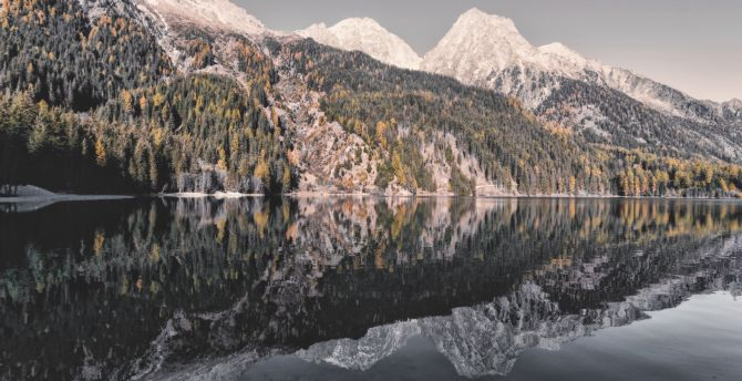 Nature mountains lake reflections