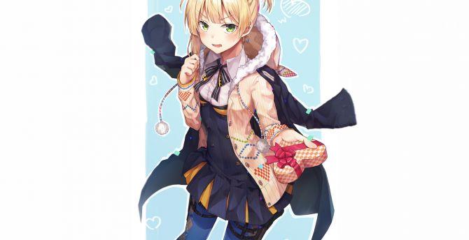 Welrod MK II, Girls Frontline, anime girl, blonde wallpaper