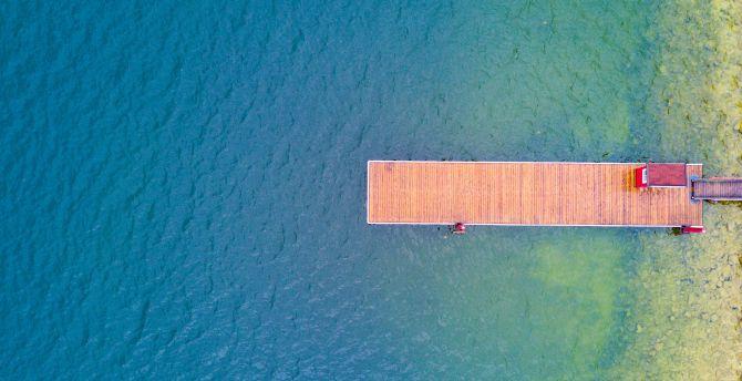 Pier, summer, vacation, holiday, aerial view, lake wallpaper