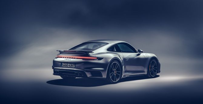 Desktop Wallpaper Rear View Porsche 911 Turbo S Hd Image