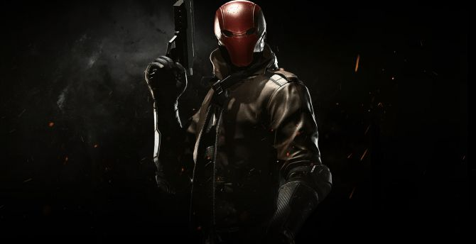 Red hood, batman, video game, Injustice 2 wallpaper