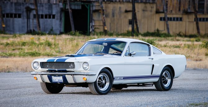 Classic, white, ford mustang wallpaper