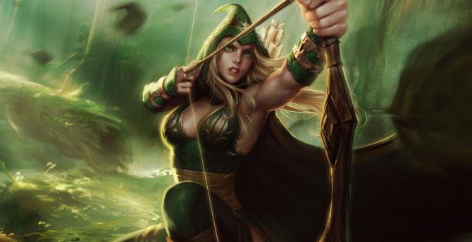 Desktop Wallpaper Ashe Warrior League Of Legends Hd Image