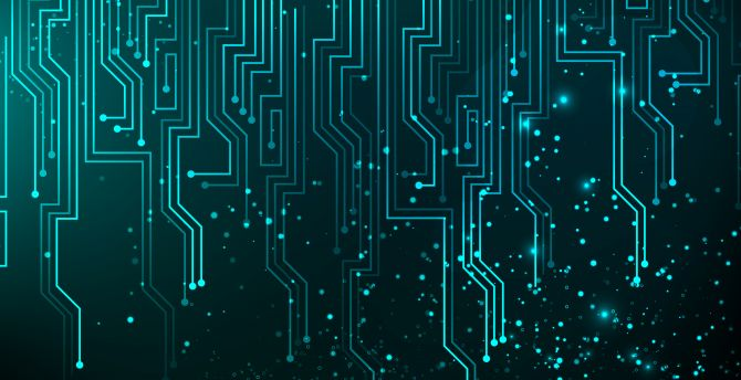Desktop Wallpaper Digital Art Circuit Abstract Lines Hd
