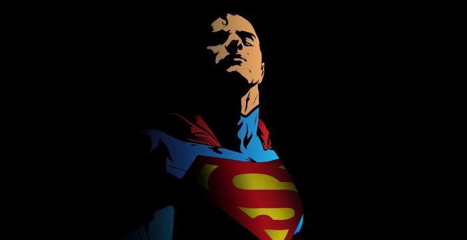 Superman, minimal, art wallpaper