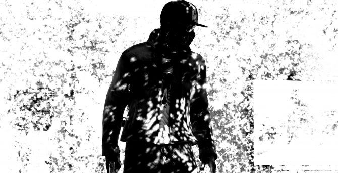 Desktop Wallpaper Watch Dogs 2 Video Game Monochrome Hd Image Picture Background 656586