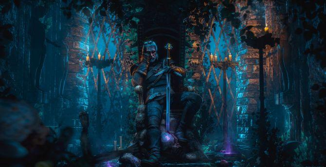 Desktop Wallpaper Geralt Of Rivia The Witcher Video Game