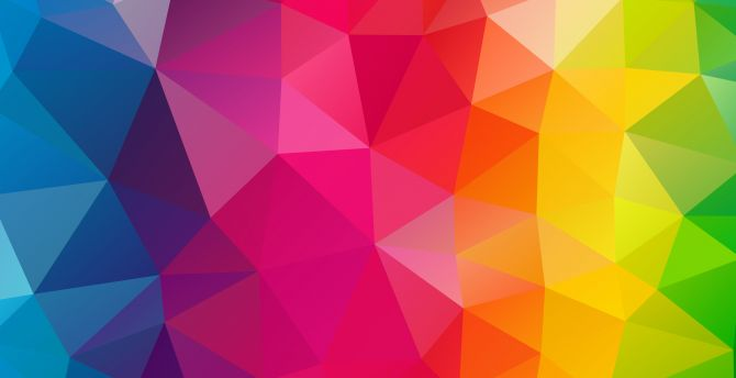 Colorful shapes, abstract, triangles wallpaper