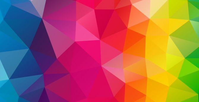 Colorful shapes traingles 4k