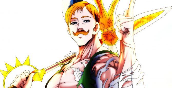 Escanor, the seven deadly sins, anime wallpaper