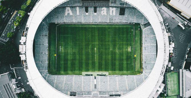 Stadium Soccer Football Sports Qhd Wallpaper 2560x2560: Desktop Wallpaper Football, Sports, Aerial View, Stadium