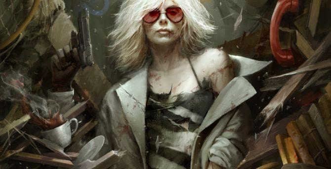 Atomic blonde movie fan art