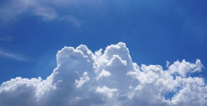 Blue Sky, clouds wallpaper