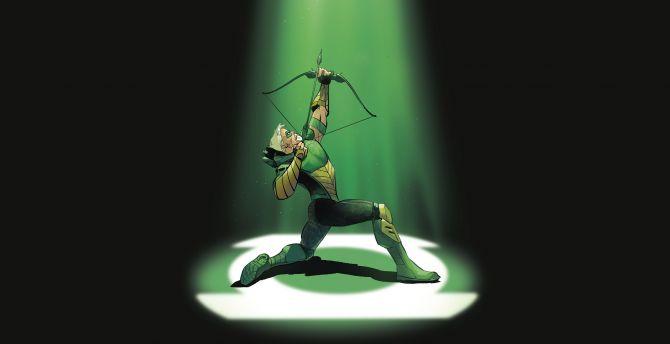 Green Arrow Arch Wallpaper