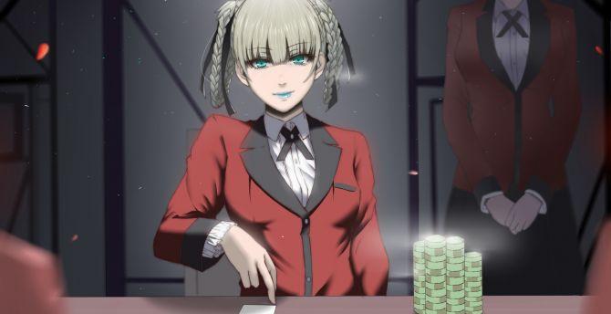 Desktop Wallpaper Poker Game Anime Girl Kirari Momobami Kakegurui Hd Image Picture Background 6e007b