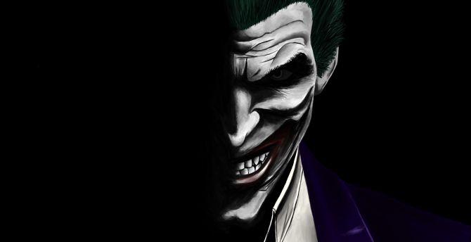Desktop Wallpaper Joker Dark Dc Comics Villain Artwork Hd Image