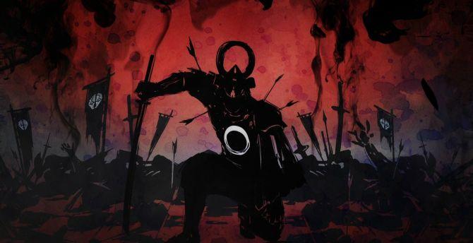 Ninja, warrior, dark, art wallpaper