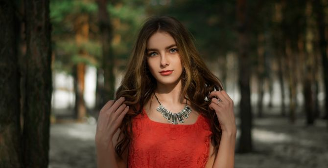 Beautiful eyes brunette model