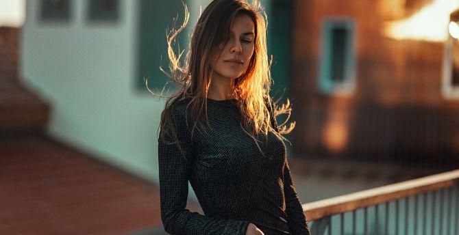 Brunette girl beautiful