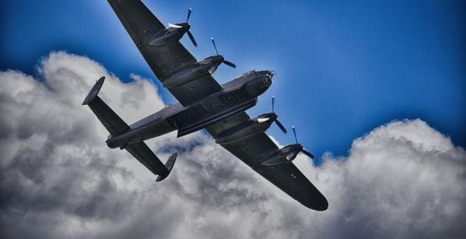 Lancaster bomber military aircraft