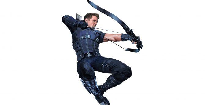 Hawkeye in avengers infinity war 2018