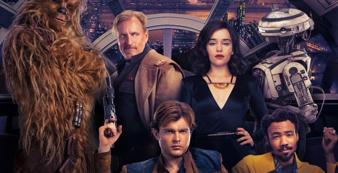 Solo: A star Wars Story, Qira, Lando Calrissian, Han Solo wallpaper