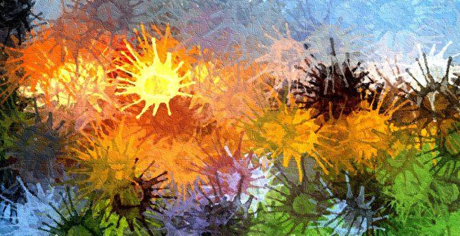 Surface, splatters, paint, colorful wallpaper