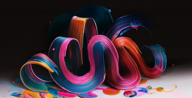 Colorful threads, paint, abstract wallpaper